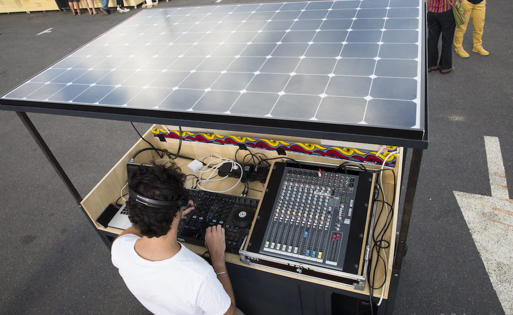 Sound system mobile solaire Pikip à Mèze 2018