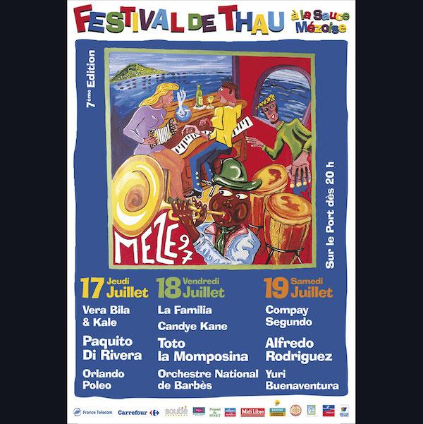 Affiche Festival de Thau 1997
