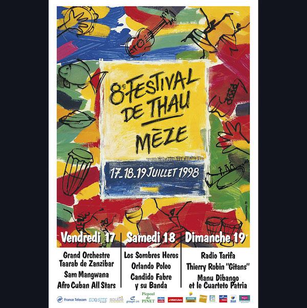 Affiche Festival de Thau 1998