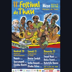 Affiche Festival de Thau 2001